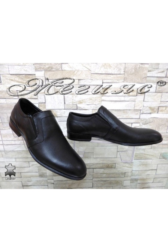 Мъжки обувки АТО 2102 черни естествена кожа