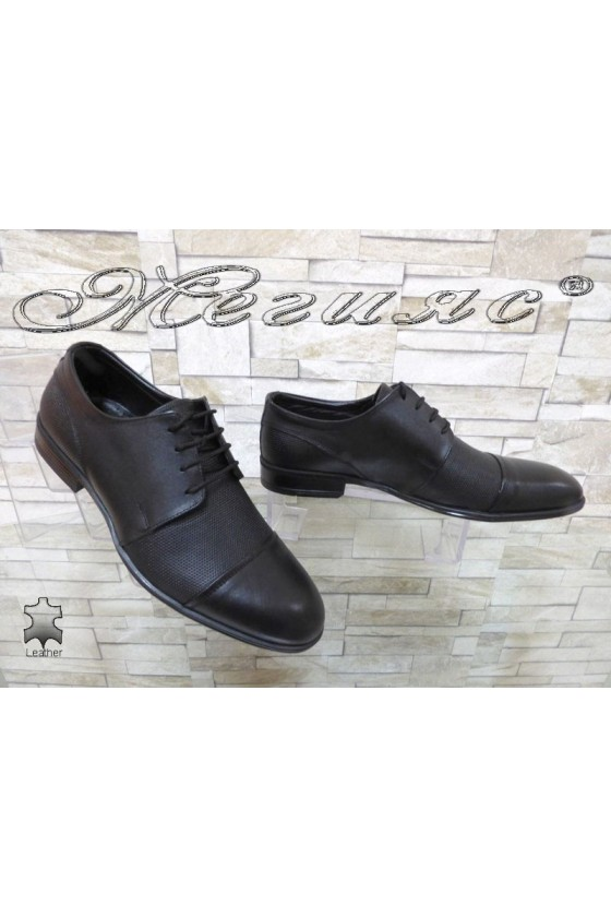 Мъжки обувки АТО 2067 черни естествена кожа