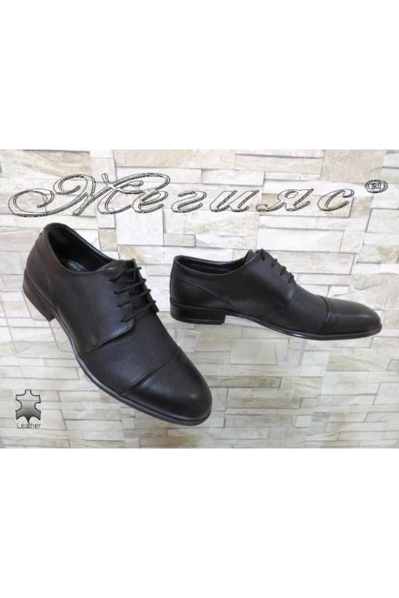 Men's elegant shoes ATO 2067 black leather