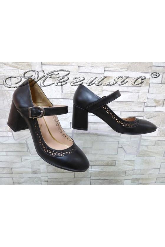 Women's shoes 312 black pu elegant
