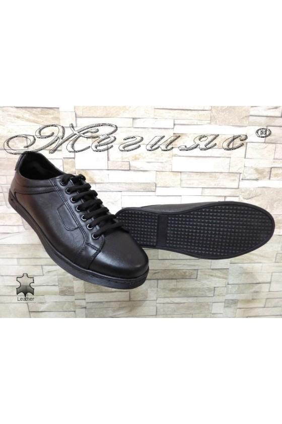 Men sport shoes ATO 250 black leather