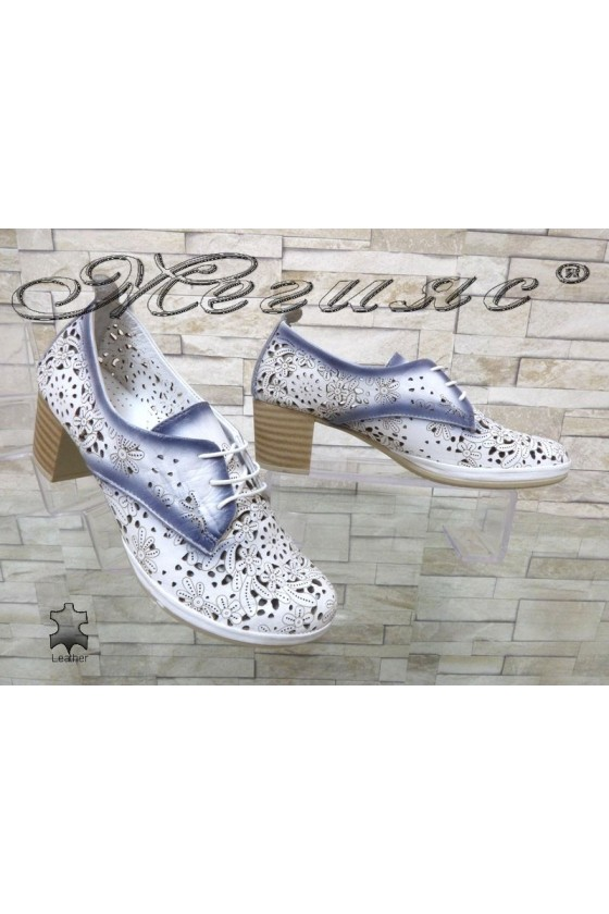Women shoes 808-02 white leather