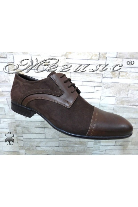 Men's elegant shoes 12200-0-2 brown leather