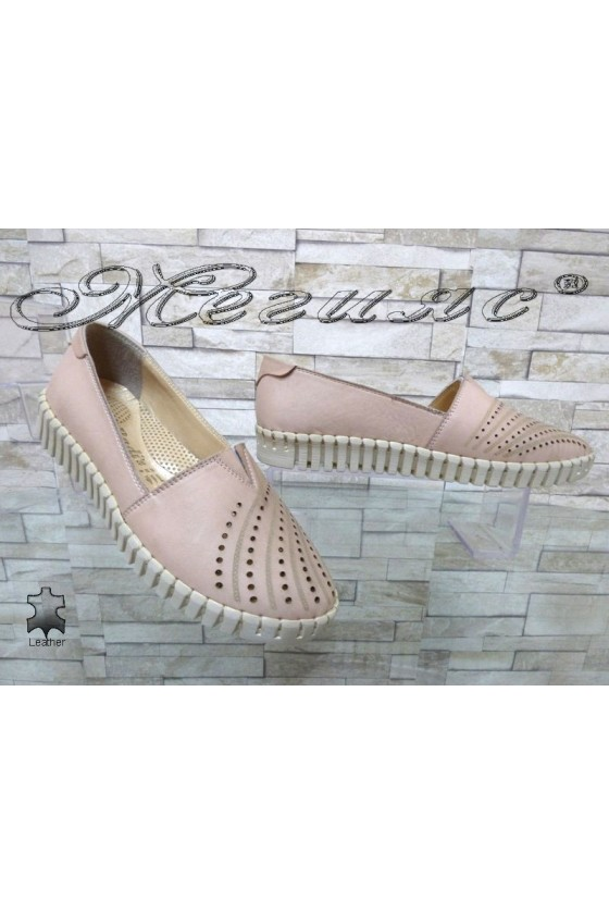 Ladies shoes 705 pudra leather