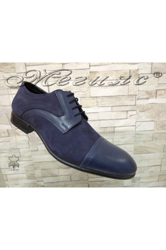 Men's elegant shoes 12200-0-2  blue leather