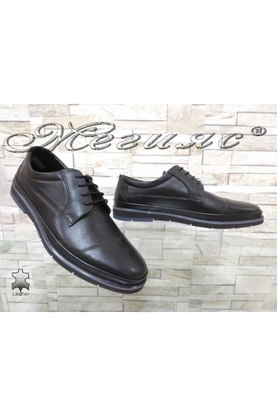Мъжки обувки Фантазия 12109 черни от естествена кожа ежедневни