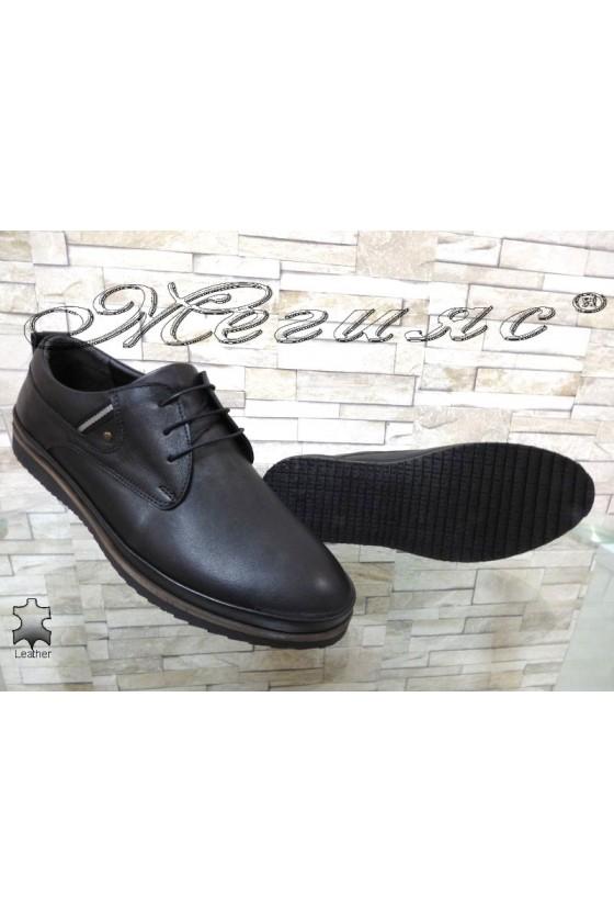 Мъжки обувки Фантазия 180-80 черни от естествена кожа ежедневни