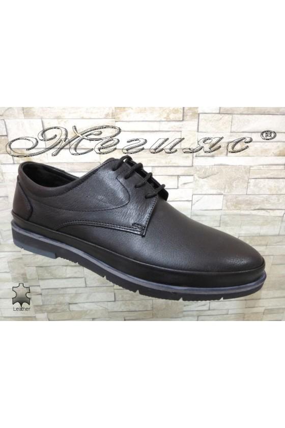 Men's shoes  412-014  black leather