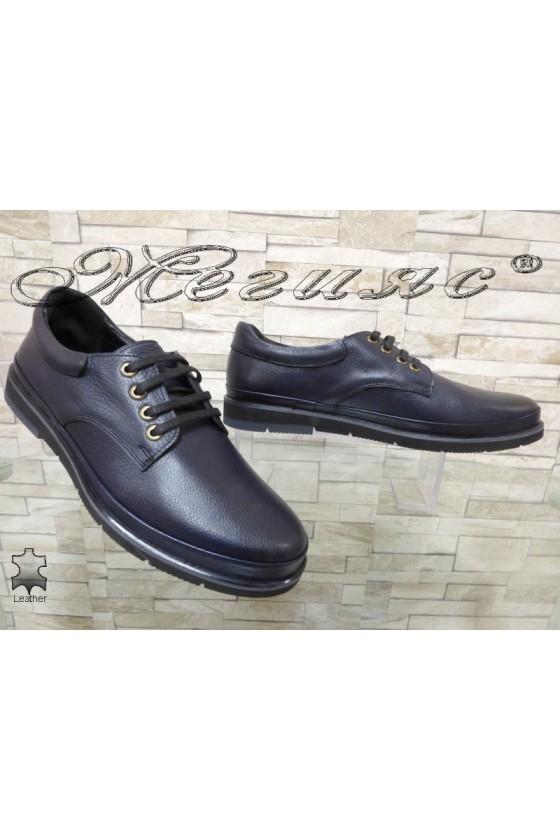 Men's shoes 3003  blue leather