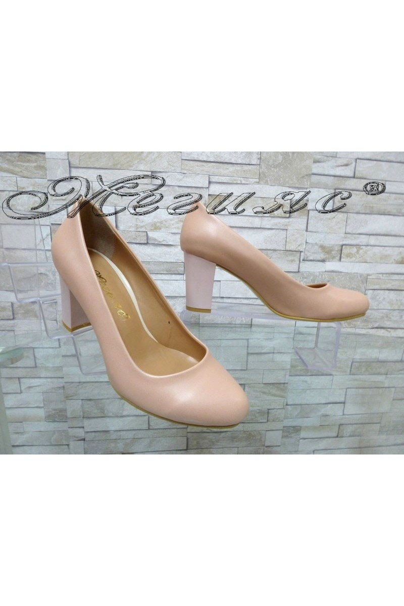 Women elegant shoes 99 pudra pu with middle heel