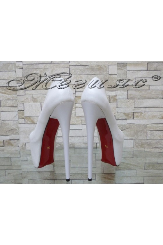 Lady elegant shoes 751 white pu