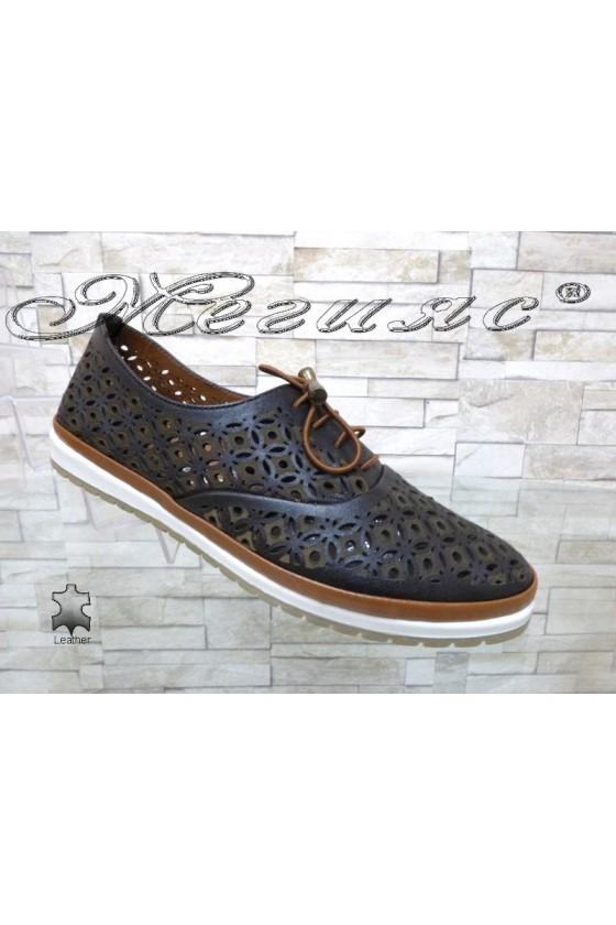 Women shoes 8102 black leather