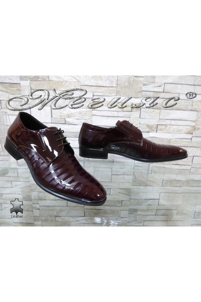 Men's elegant shoes FANTAZIA 12308-246 bordo patent