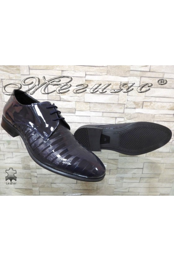 Men's elegant shoes FANTAZIA 12308-246 blue patent