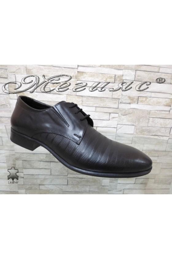 Men's elegant shoes FANTAZIA 12308-246 black leather