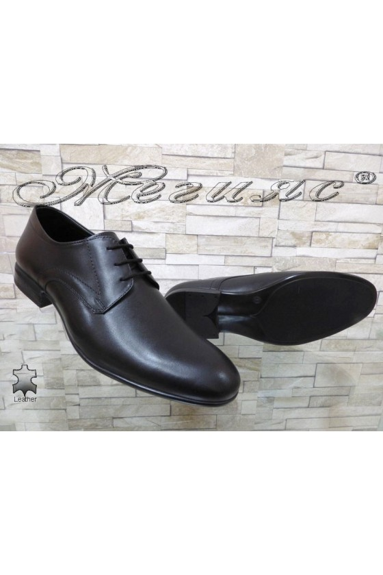 Men's elegant shoes FANTAZIA 12205 black leather