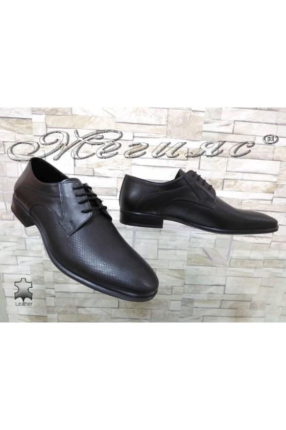 Мъжки обувки Фантазия 12305-292 черни естествена кожа елегантни