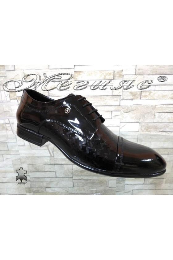 Men's elegant shoes FANTAZIA 12201-245 black patent