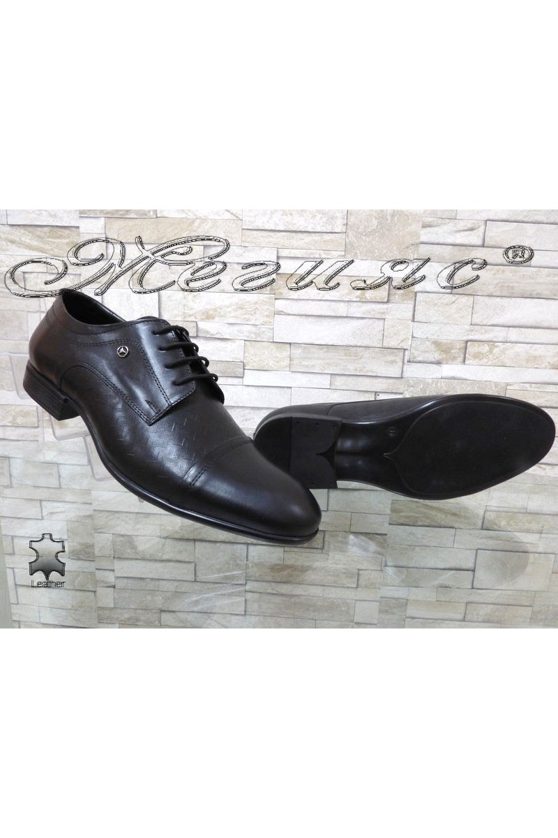 Men's elegant shoes FANTAZIA 12201-245 black leather