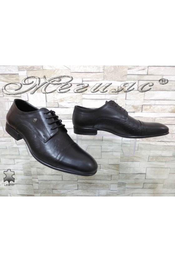 Мъжки обувки Фантазия 12201-245 черни естествена кожа елегантни