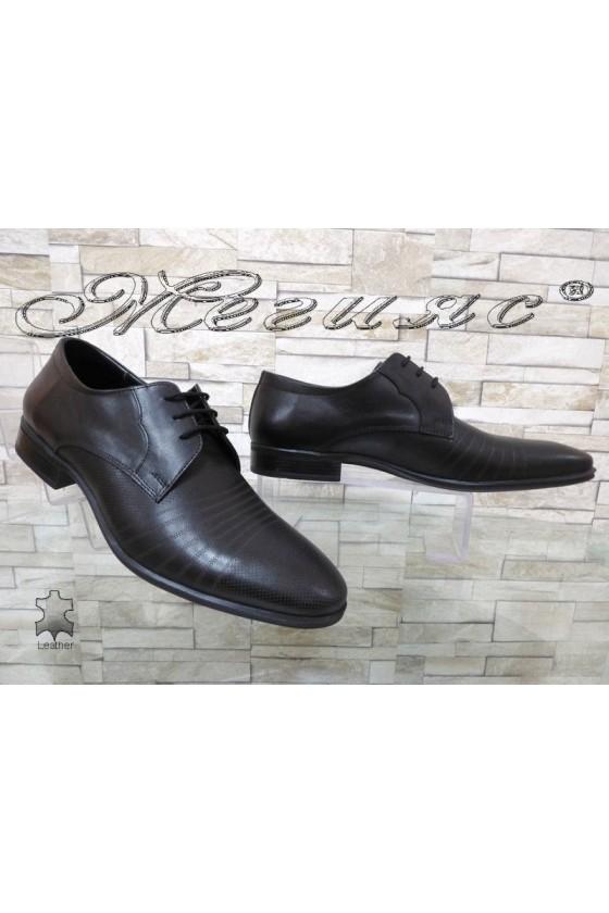 Мъжки обувки Фантазия 12300-15 черни естествена кожа елегантни