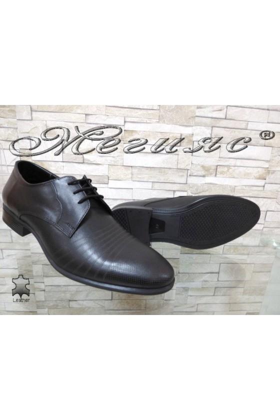 Мъжки обувки черни естествена кожа елегантни Фантазия 12300-15