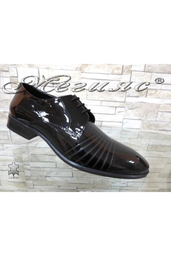 Men's elegant shoes FANTAZIA 12300-15 black leather