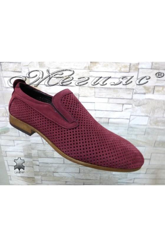 Men's elegant shoes 720 wine leather