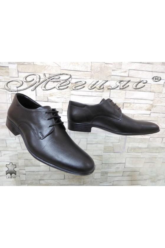 Мъжки обувки Фантазия 303-А черни от естествена кожа елегантни
