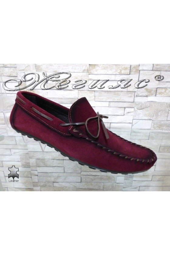 Men's shoes  01/2018 wine suede leather