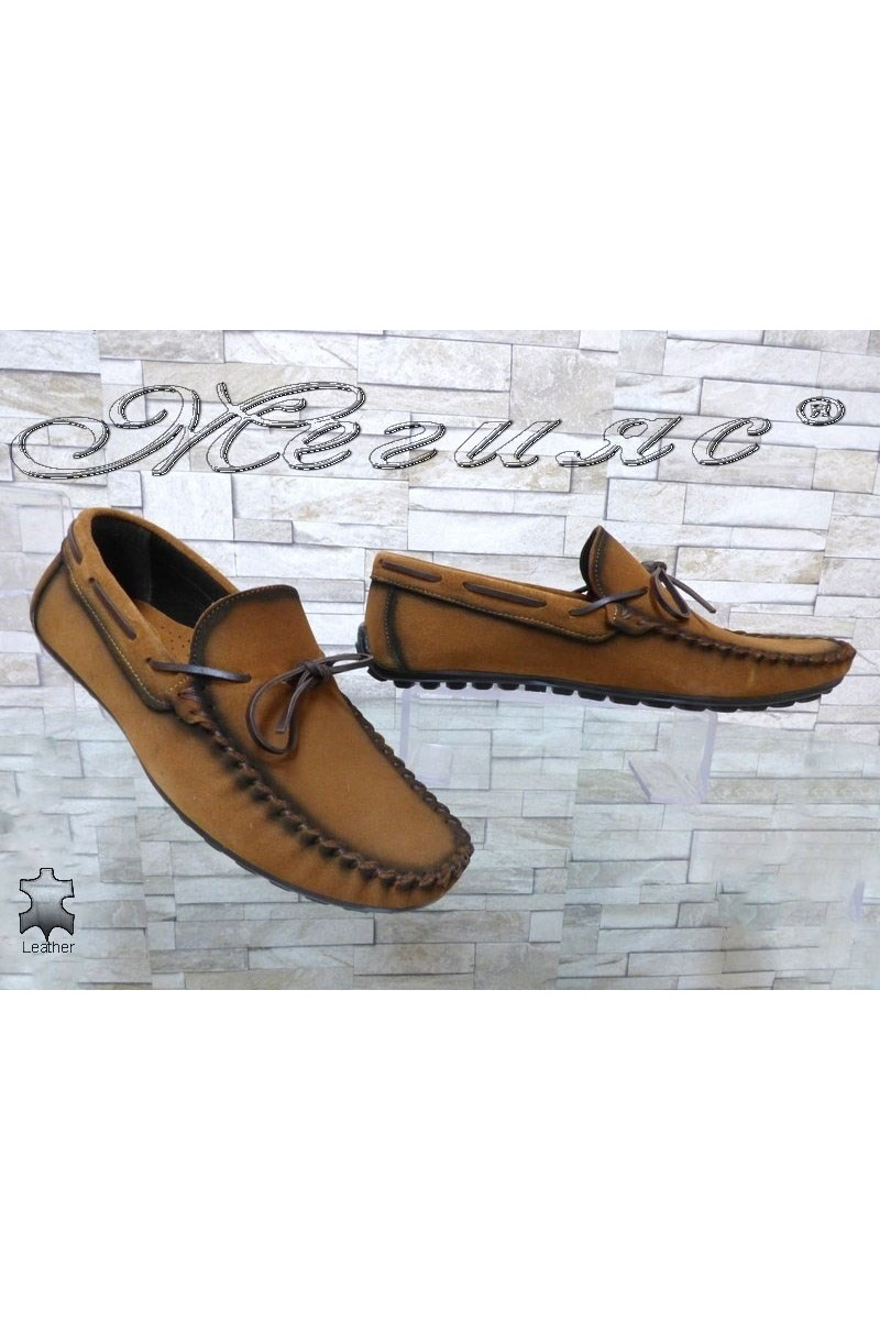 Мъжки обувки 01/2018 таба тип мокасини от естествен велур