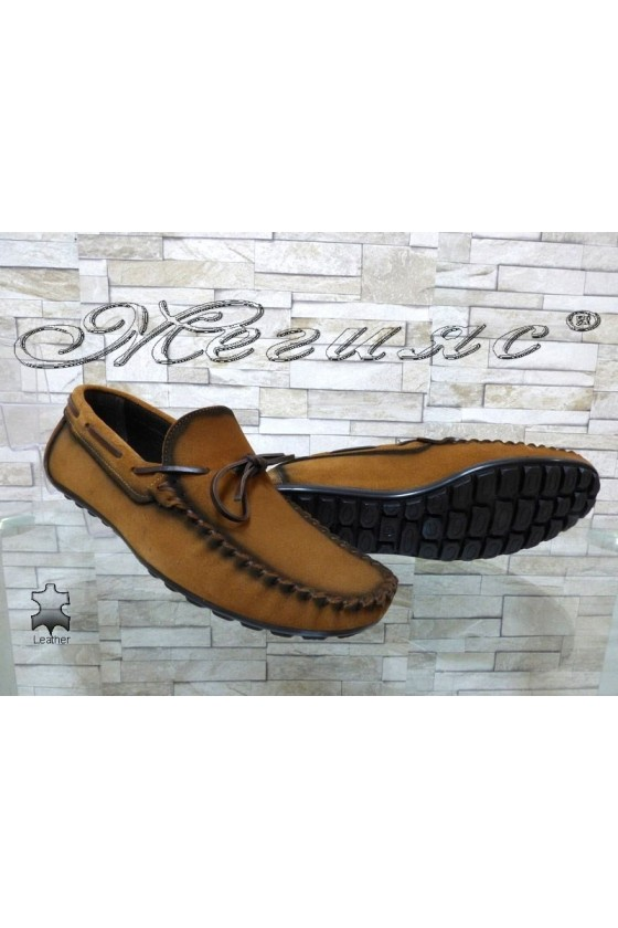 Men's shoes 01/2018 brown suede leather