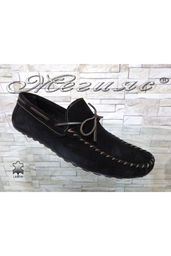 Men's shoes  01/2018 black sued eleather