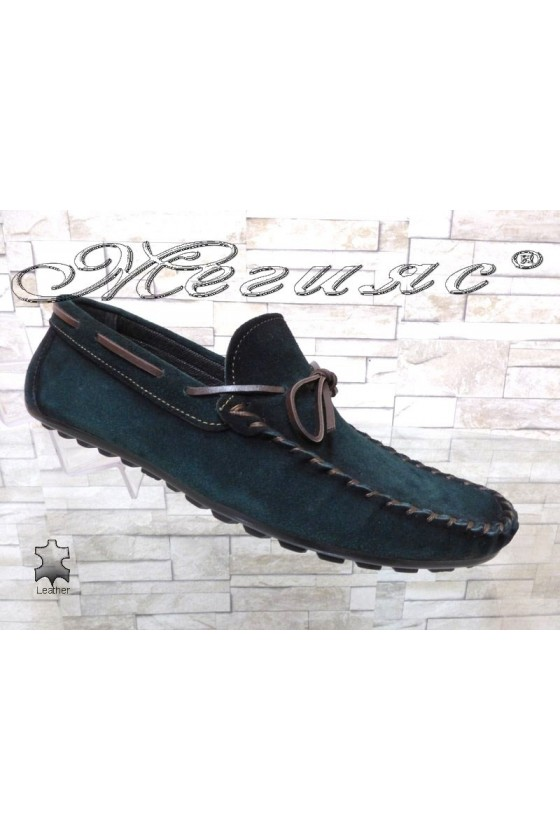 Men's shoes  01/2018 dark green suede leather
