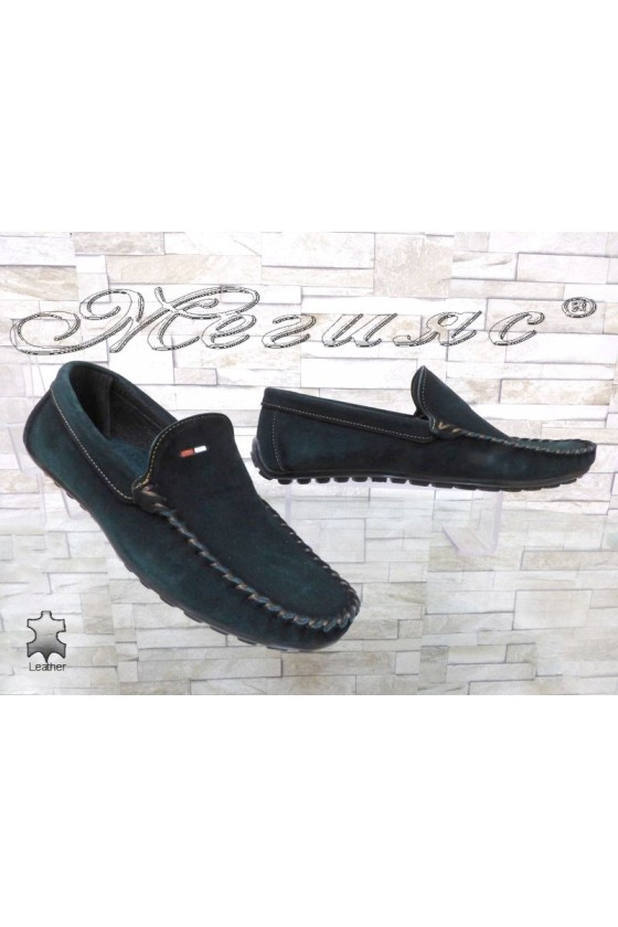 Men's shoes 02/2018 green leather