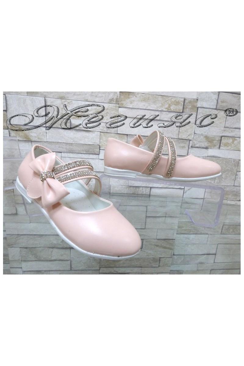 Детски обувки 00220 пудра от еко кожа