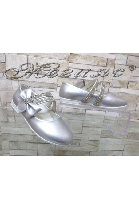 Детски обувки 00220 сребристи от еко кожа