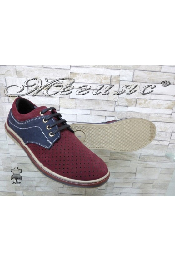 Men's shoes 705-3001 wine leather