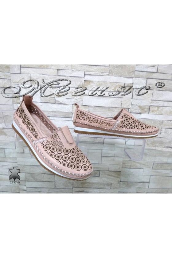 Дамски обувки 67 CAN пудра ежедневни естествена кожа