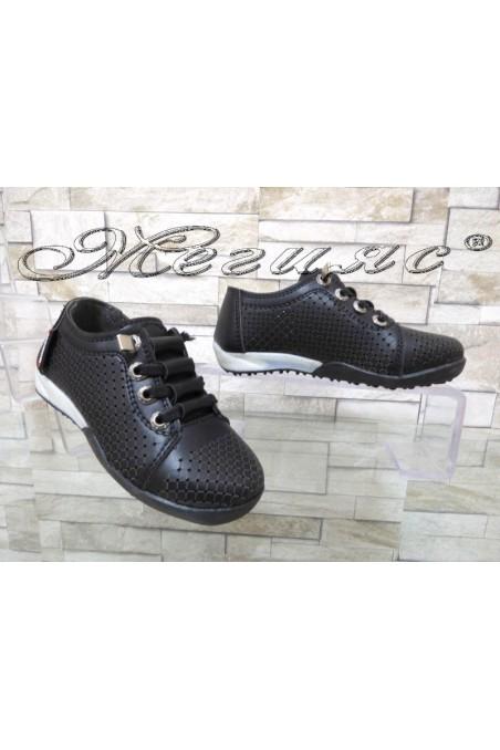Children's shoes 00219 black pu