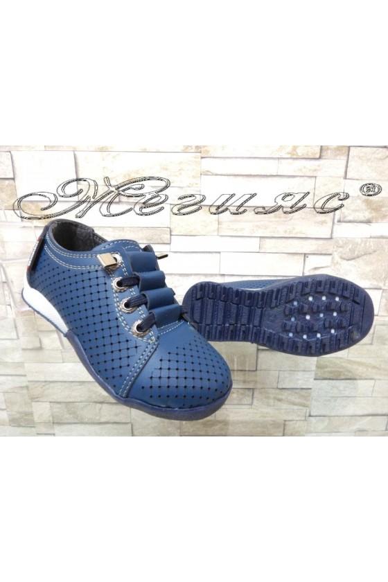 Детски обувки сини от еко кожа ежедневни 00219