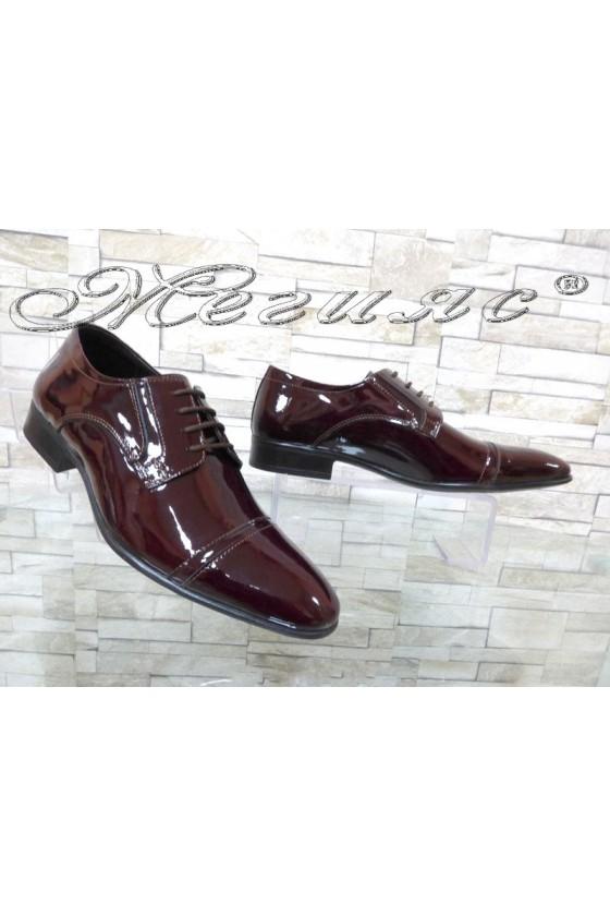 Мъжки/Юношески обувки Фантазия 8017 бордо естествен лак