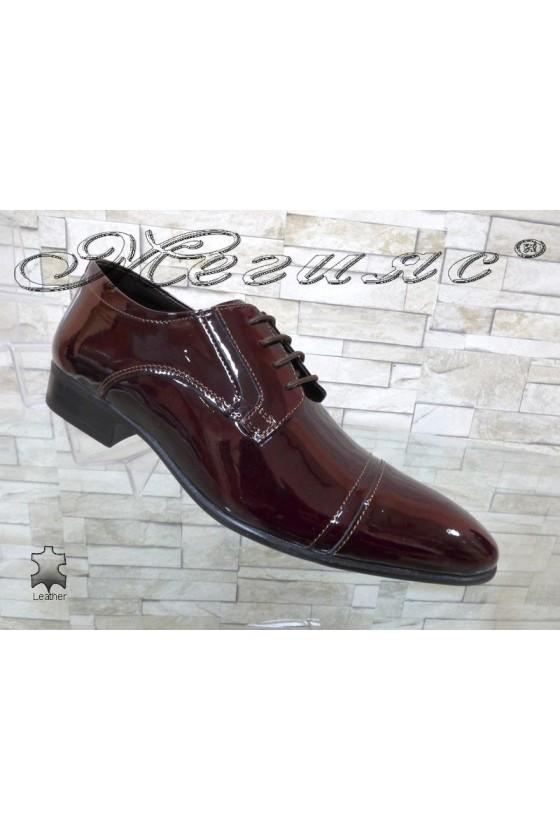 Men shoes FANTAZIA 8017 bordo leather