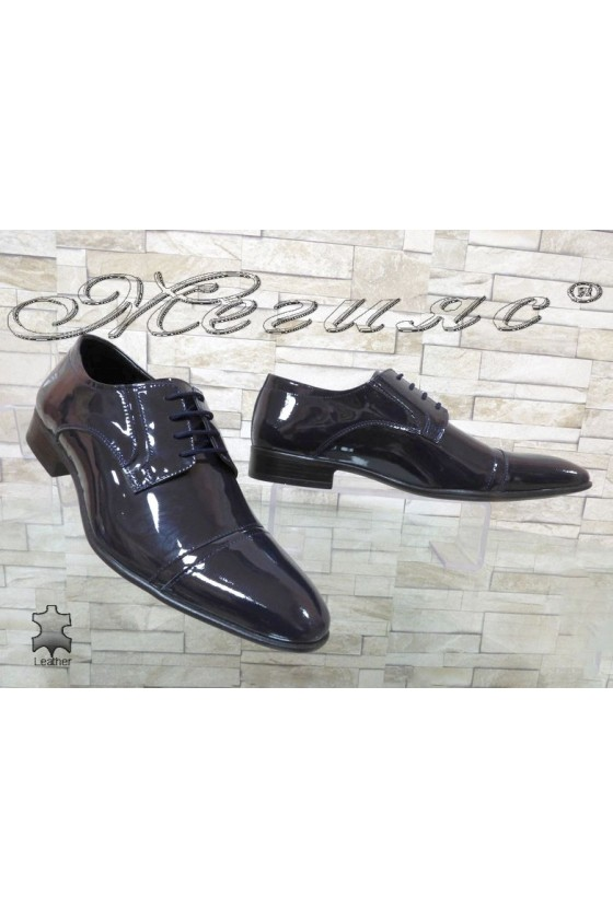 Men shoes FANTAZIA 8017 blue leather