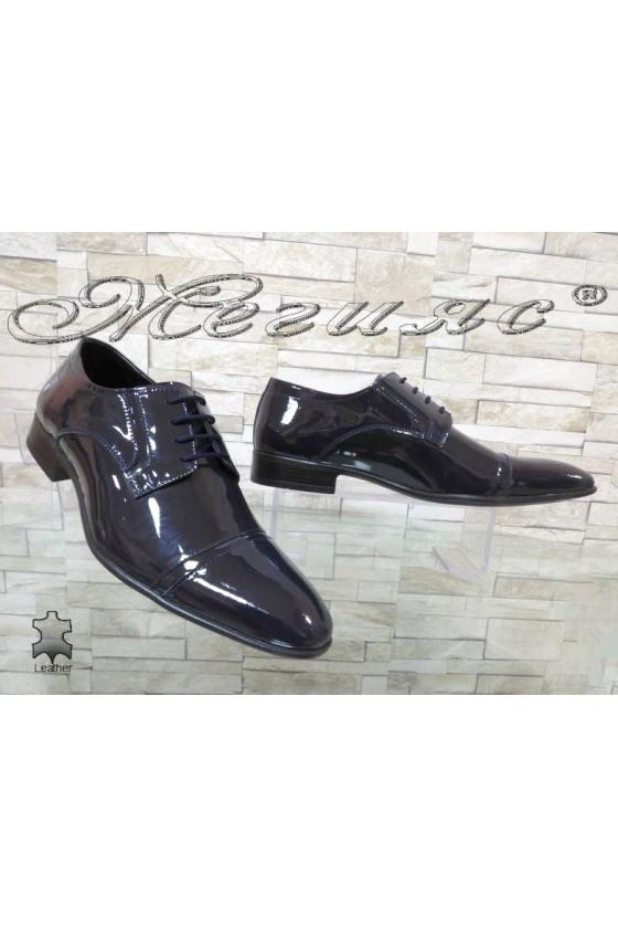 Мъжки/Юношески обувки Фантазия 8017 сини естествен лак