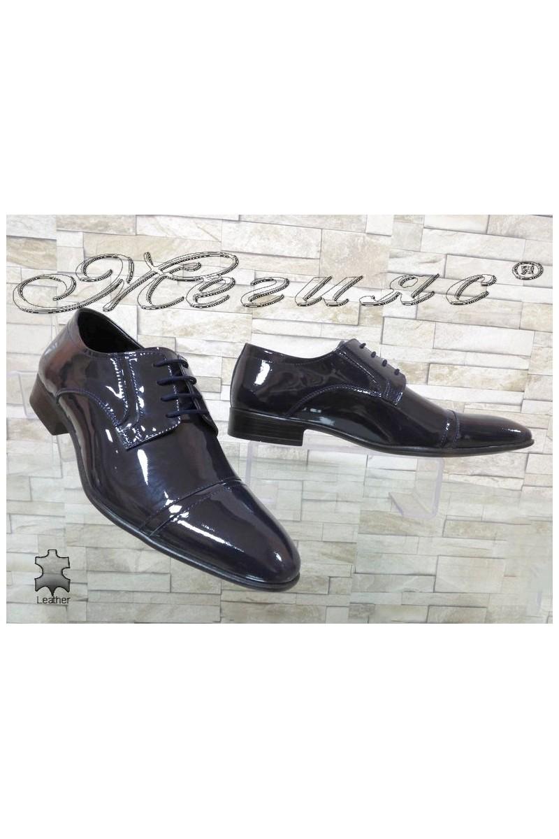 Men shoes FANTAZIA 8017 blue leather