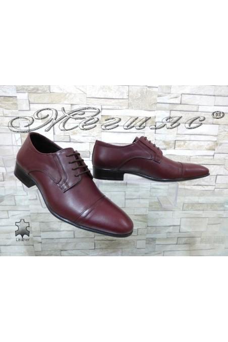 Мъжки/Юношески обувки Фантазия 8017 бордо естествена кожа
