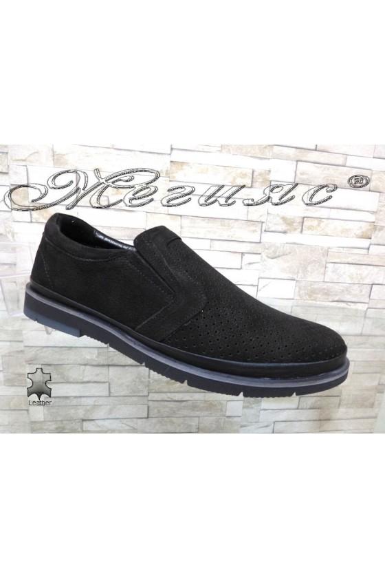 Men's shoes Sharp 705-3004 black  suede