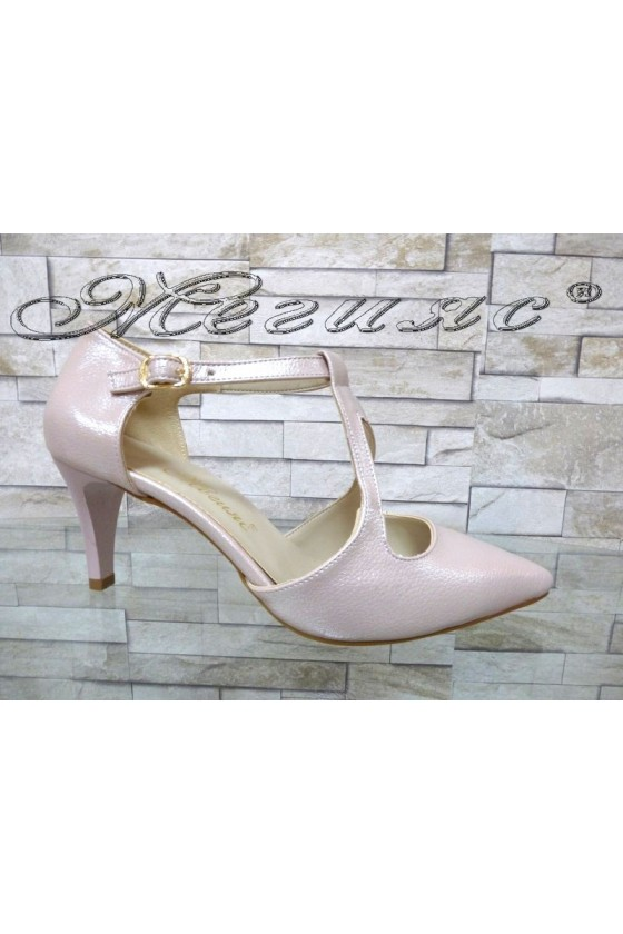 Lady sandals 948 pudra with high heel