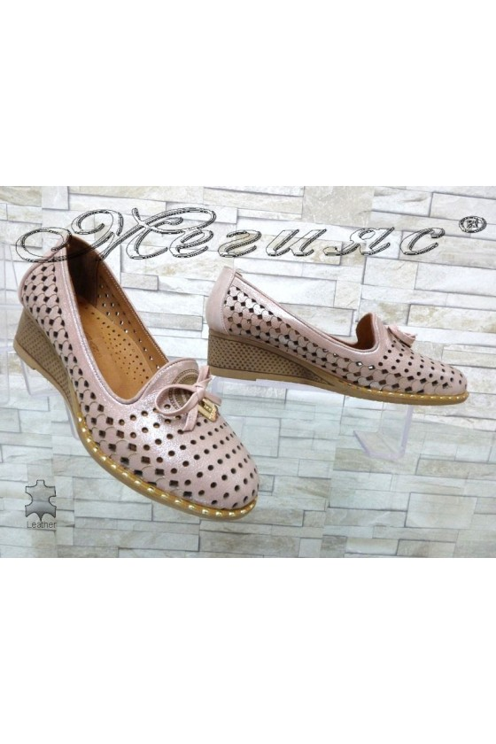 Women platform shoes 49/12 pink leather
